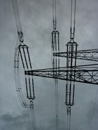 graphic image of high voltage lines