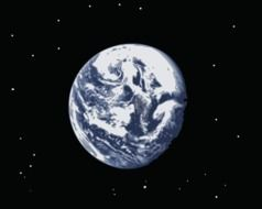 picture of earth planet on the night sky
