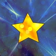 yellow star with highlights