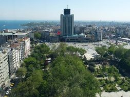 view of the center of Istanbul