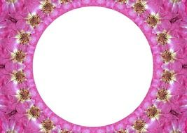 floral frame around a white circle