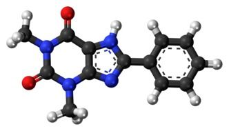 model of phenyltheophylline molecule in chemistry