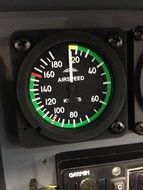 speed indicator in the plane