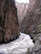 whitewater rafting river canyon