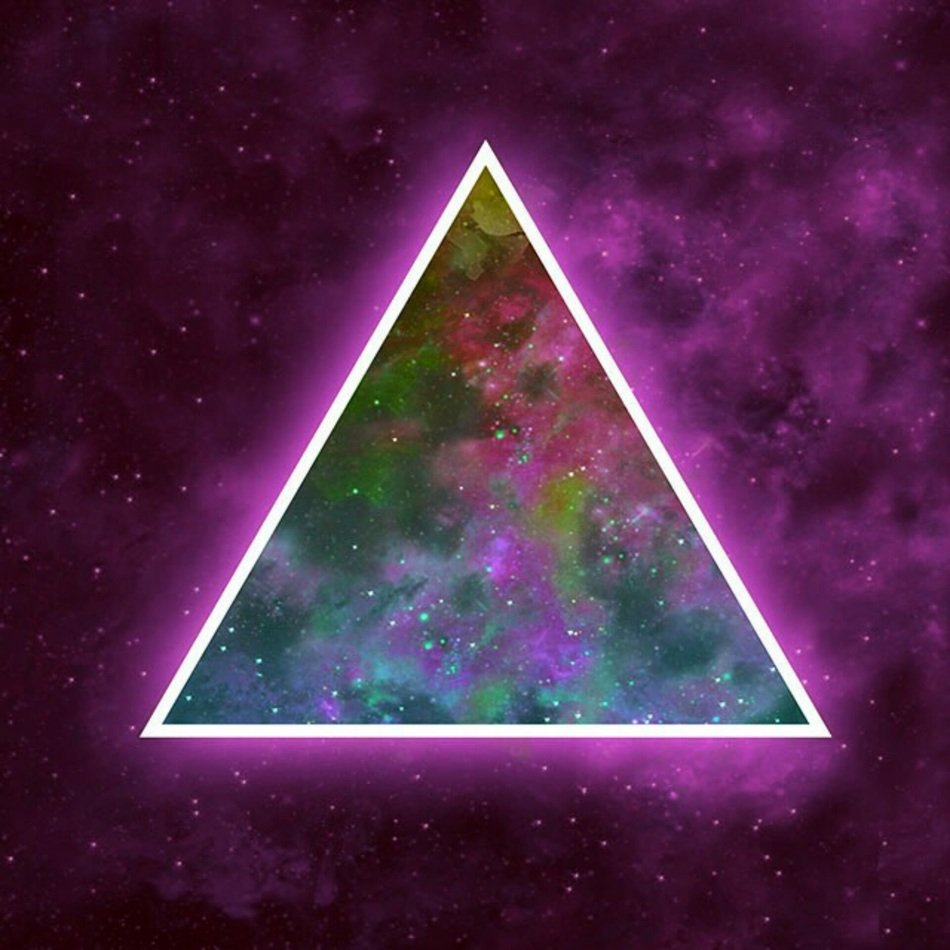 abstract triangle in space