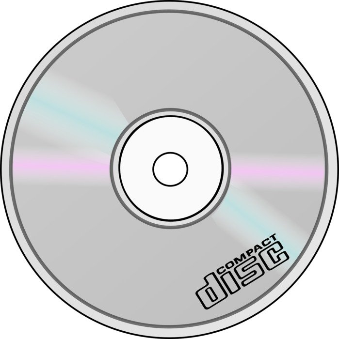 cd disc with logo