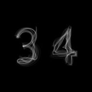 Smoke font Numbers 3 4