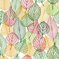 Autumnal leaves seamless pattern N3