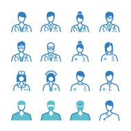 Medical staff icons set