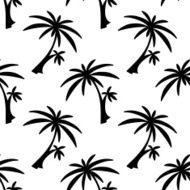 Seamless pattern palm trees N5