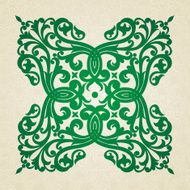 Vector baroque ornament in Victorian style N65