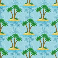 Seamless pattern palm trees N6