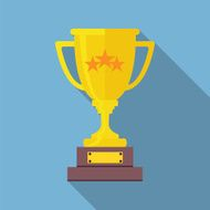 Champions Cup icon vector Trophy icon