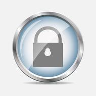 Security Glossy Icon Vector Illustration N3
