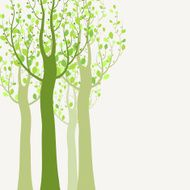 Decorative trees background N6