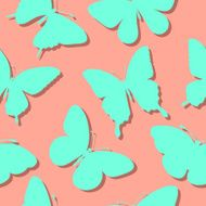 seamless background with butterflies silhouettes N2
