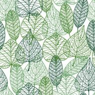 Green leaves seamless pattern N9