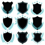 Vintage vector badges and shield shapes N2