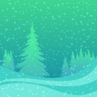 Christmas background winter forest N4