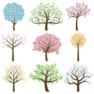 Vector Collection of Tree Silhouettes N2