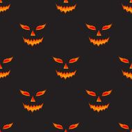 Halloween pumpkin scary face pattern