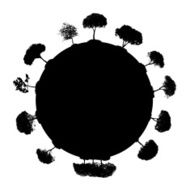 Abstract Silhouette Tree Vector Illustration N14