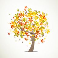 Vector autumn tree N3