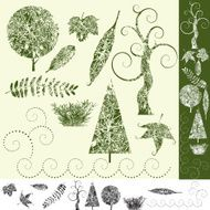 Tree and Leaf-Design Elements