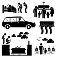 Funeral Burial Ceremony Pictogram N2