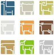 Square Animal Icons N2