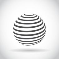 Abstract swirl sphere globe symbol N5