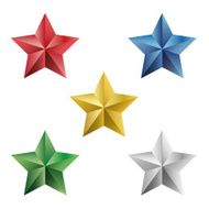 Set of precious stars vector isolated objects N2