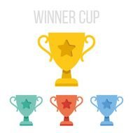 Vector winner cup icons