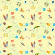 Travel and tourism seamless pattern N5