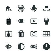 Camera Menu Silhouette Icons