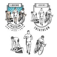 Triathlon emblems and design elements N2