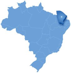 Map of Brazil where Ceara is pulled out