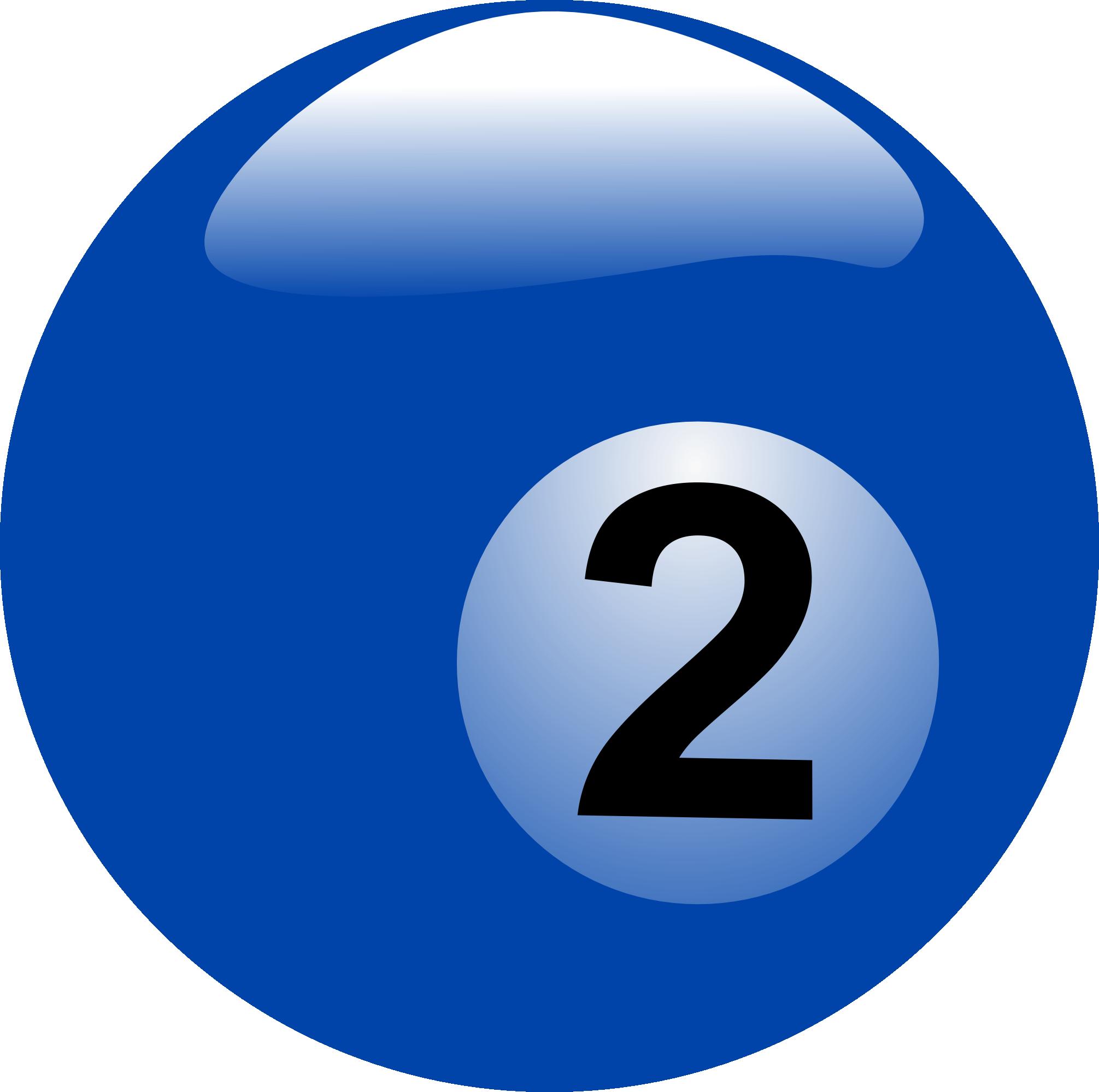 Billiard Ball Number 2 Free Image