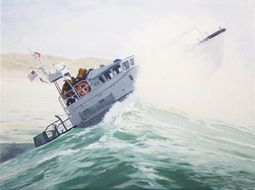 motor lifeboat surf coast guard sea