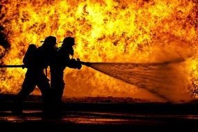 firefighters extinguish the fire