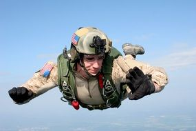 parachute skydiving military