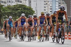 cycling athletes in competitions