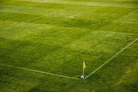 panoramic view of a corner of a soccer field