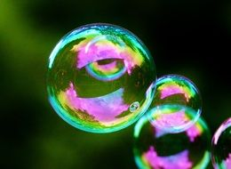 crystalline soap bubbles
