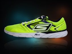 neon yellow running shoes