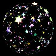 Drawing of Lighting star ball in a dark
