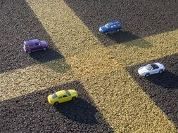 Parking toy cars