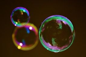 soap bubble colorful ball N26