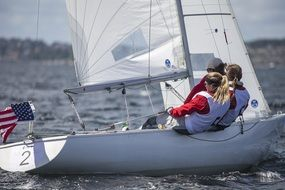 sailboats female competition