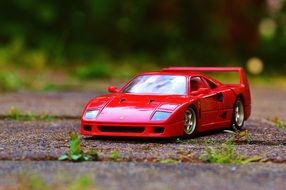 red ferrari toy